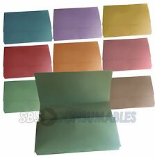 25x A4 Document Wallets. Choice of colours. Foolscap Filing Folders. Half flap.