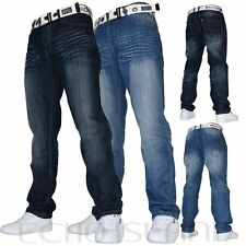 New in Mens Crosshatch COLUMBO Jeans Regular Fit Faded Straight Leg RRP £39.99