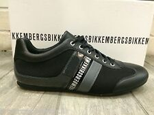 Dirk Bikkembergs Mens Shoes Sneakers Black Leather Trainers BKE106577 New In Box