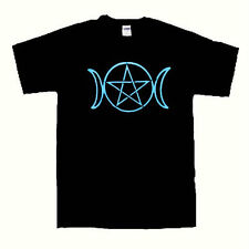 Triple moon Pentacle t shirt wiccan pagan shirt Small size to 2 Extra Large size