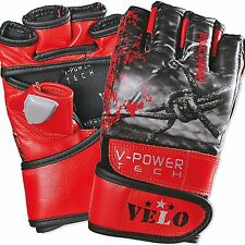 VELO Leather MMA UFC Pro Grappling Gloves Fight Boxing Punch Bag Cage Fighter us