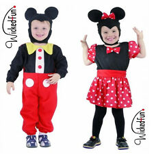 Boys Girls Age 2-4 Mouse Style Costume Fancy Dress Minnie Mickey Red Spotty