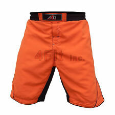 Fit™ MMA Fight Shorts UFC Cage Fight Grappling Muay Thai Boxing Orange XS-3XL