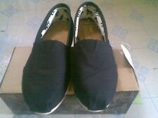 Authentic Toms Black Canvas Women's Classics Size