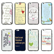 Faith Christian Bible Verse Quote TPU Bumper Hard Case For iPhone4 4s 5 5s 5C
