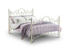 Stone White Victorian Princess Style Bed in 3FT, 4FT6, 5FT with Mattress Options