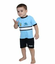 CRONULLA SHARKS NRL SHORT TEAM FOOTYSUIT KIDS BABY INFANT SUIT