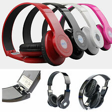 Foldable Wireless HiFi Stereo Bluetooth MP3 Headphone For Mobile Laptop Tablet