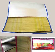 LARGE STRAW HOLIDAY BEACH MAT BAG POCKET FOLDS UP FOR EASY PET SWIMMING POOL