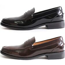 New Mooda Penny Loafer Classic Dress Casual Mens Formal Leather Shoes Black Wine