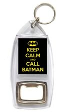 BOTTLE OPENER KEYRING - KEEP CALM AND.... (Various Designs) - Large Photo