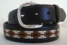 Tony Lama New Intricate Weave Multi-Color Leather Belt   Sizes 30, 32, 34 and 36