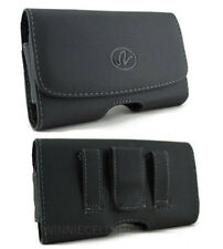 Leather Sideways Case Holster for Cell Phones COMPATIBLE WITH Otterbox Defender