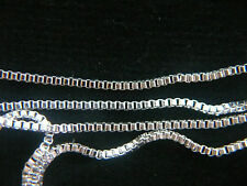 """SILVER NECKLACE  CHAINS Different sizes 16"""" 18"""" 20"""" 22"""" 24"""""""