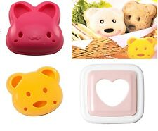 Sandwich Cutter Mould Bread Toast Cake Rabbit Bear Heart Novelty Kitchen Tool UK