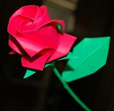 Roses flowers origami artificial paper wedding gift valentine easter holiday