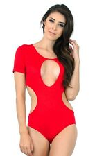 Style Creek Women's Fashion All Curves Cut Out Short Bodysuit Top 10769 BS