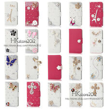 Bling Diamond Wallet PU Leather Case Cover For Samsung Galaxy-S Advance i9070