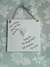 Wedding Anniversary Personalised GIFT wood heart Any Year Forever to go square