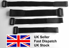 Black Hook and Loop velcro style strap strapping Cable Ties with buckle
