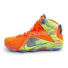 Nike Lebron XII EP [707781-870] Basketball Meridians China Hyper Crimson/Volt