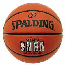 Spalding Silver NBA Outdoor Basketball Size 5 or 7  Tan Basket Ball Rubber