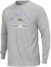 Baltimore Ravens NFL Apparel Distress Name & Logo Long Sleeve Shirt Big Sizes