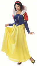 Womens Snow White Dress Adult Halloween Costume
