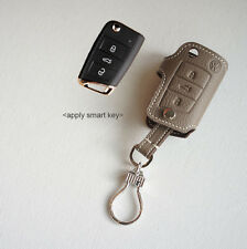 Leather Smart Key Chain Case Cover Fob For VW Volkswagen Golf 7G
