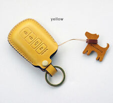 Leather Remote Key Fob Chain Case For TOYOTA New Camry