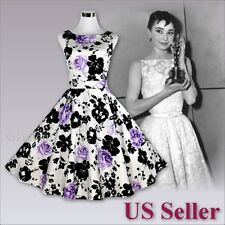 Gorgeous 50s Audrey Hepburn Style Evening Party Wedding Prom Vintage Dress