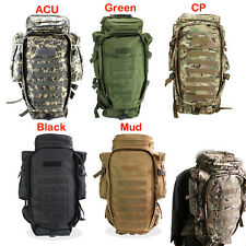 Military USMC Army Tactical Molle Hiking Hunting Camping Dual Rifle Backpack Bag