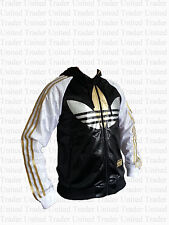 ADIDAS CHILE JACKET UK SIZE S - M MENS BLACK - HOODIE -  TRACK TOP