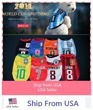 Pet 2014 Football World Cup  team Dog clothes Summer VEST Clothing USA