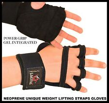 Unique Easy Gel Padded WeightLifting Training Gym Strap Wrist Support Gloves -US