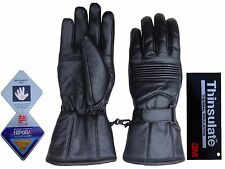 MENS LEATHER MOTOR BIKE DRIVING GLOVES THINSULATE & HIPORA WG-900 -WATERPROOF