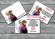 Frozen Personalised Invite /Thank You Card / Note 12 with envelopes