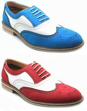 New Ferro Aldo Mens Lace Up Leather Lined Dress / Casual Classic Wing-Tip Shoes