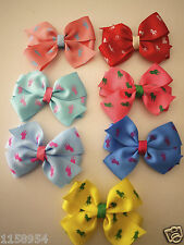 Handmade pinwheel bow hair clip for baby toddlers girls polo horses prints