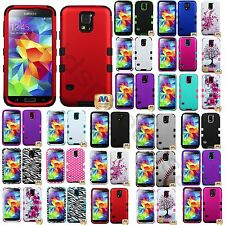 Heavy Duty Hybrid Rugged Rubber Hard Case Cover for Samsung Galaxy S5 S V i9600