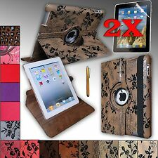 360 Degree Rotating Case Cover W/ Build-in Rotating Stand For Apple iPad 2, 3, 4