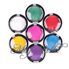 LW New Temporary Hair Color Chalk Compact Pressed Powder For Hair Rub