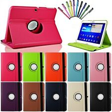 """360 Rotating Leather Hard Case Cover For Samsung Galaxy Tab 3 10.1""""/P5200 Tablet"""