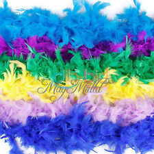 2M 79Inch Long Fluffy Feather Decoration Boa Party Costume Wedding Dress Decor M