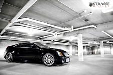 Cadillac CTSV CTS-V Coupe on Strasse Wheels HD Poster Print multiple sizes avail