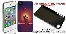 Beauty And The Beast Image Design iphone4 / 4s Snap On Case #ip4-014