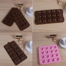 Chocolate Cake Cookie Candy Muffin Jelly Ice Baking Silicone Mold Mould Bakeware