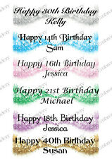 PERSONALISED BIRTHDAY STARS LARGE PAPER BANNER ANY AGE COLOUR L@@K