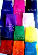 Coloured Wedding Diamante Crystal Mens SOCKS  FREE UK P&P  Groom Best Man Usher