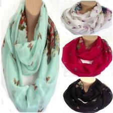 Floral & Butterfly Circle Loop Infinity Scarf Snood New Design